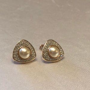 Vintage Swarovski clip on earrings